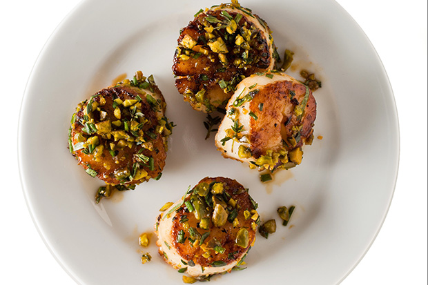 Pistachio-Crusted Scallops recipe