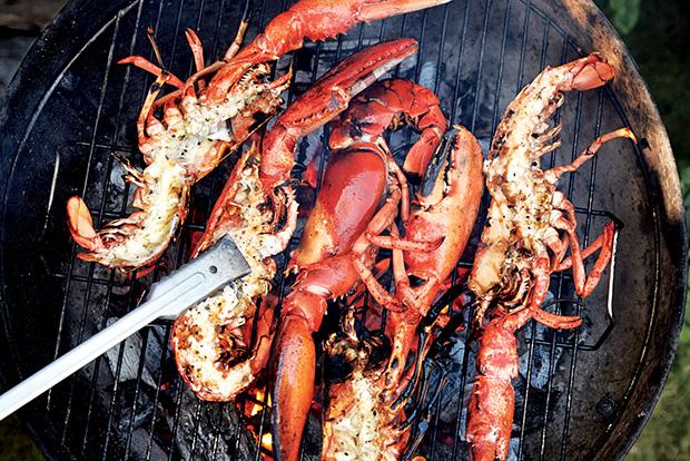 Grilled Split Lobster recipe