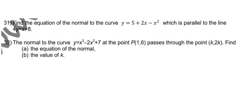 tangent nd normal question