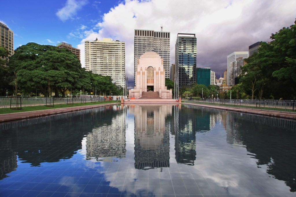 Hyde Park Pool of Reflection - Anzac War Memorial Sydney