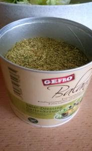 Gefro Balance Salat Dressing Gartenkräuter