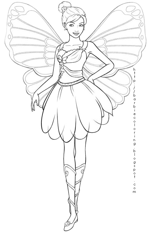 Barbie Maripossa Free Colouring Pages