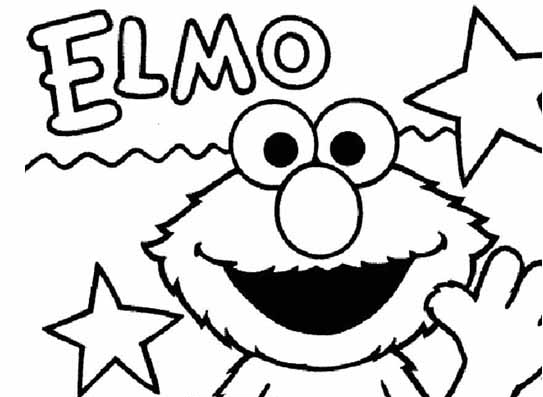 Stars Elmo Coloring Pages Free Printable SaveEnlarge