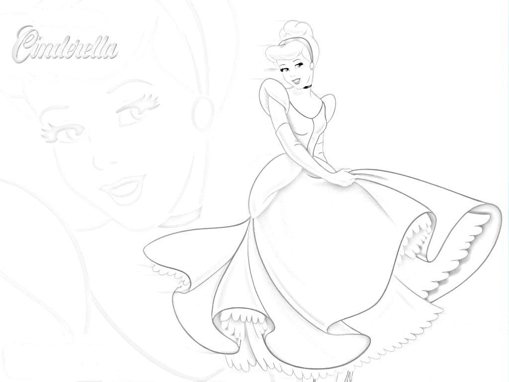 Disney Princess Coloring Pages Cinderella - Eskayalitim