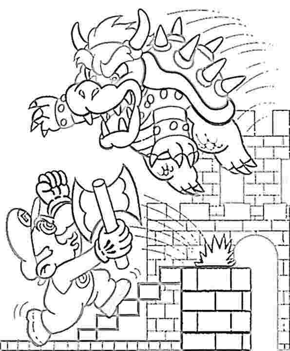 Super Mario Coloring Pages Coloring pages for Kids #37 Free - mario coloring pages