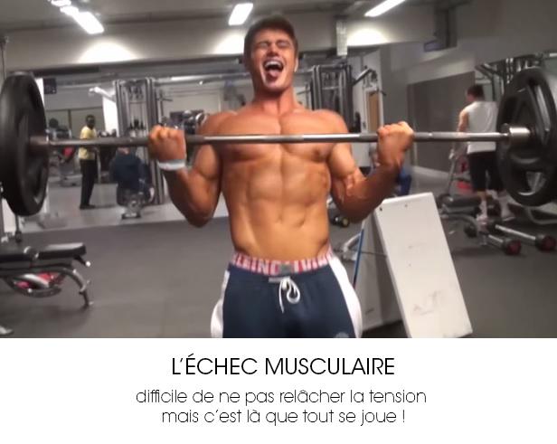 échec musculaire en musculation sur un exercice biceps