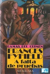 A falta de pruebas - Frances Fyfiel portada