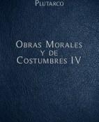 Obras Morales y de Costumbres IV - Mestrio Plutarco portada