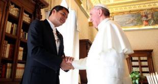 pape françois en Equateur