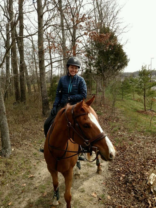 first offsite trail ride