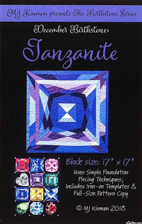 eQuilter Birthstone Pattern - December Tanzanite - by MJ Kinman