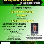 Conférence – Christopher Vasey : Secrets et sagesse des lois naturelles