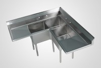 3 Compartment Stainless Sinks,3 Bowl Commercial Kitchen