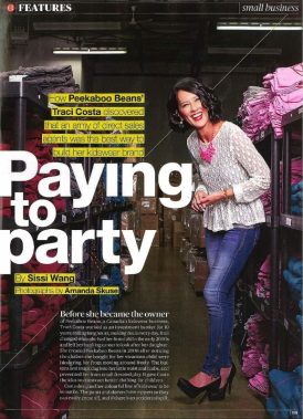Traci Costa has built an appealing apparel company, that is earning the right kind of media attention.