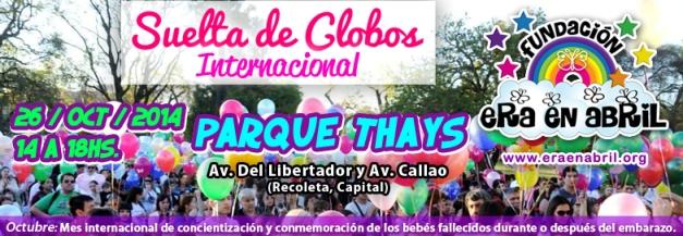 Suelta de Globos - Fundación Era en Abril 2014