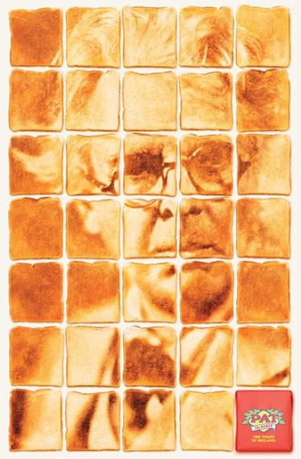 William Butler Yeats en un anuncio de pan