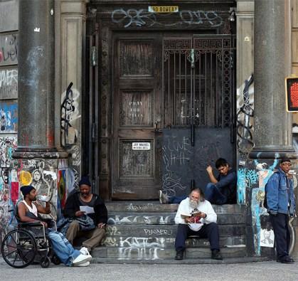 Lectores callejeros en Nueva York
