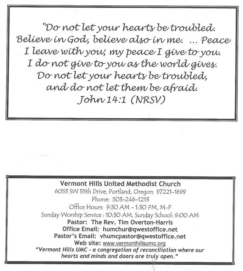ERBzine 3149a Church Programme - church program