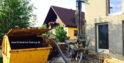 Erdwärmebohrung im Neubau - Foto Silvio Klenner