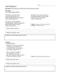 Tone Worksheet 5 | Preview