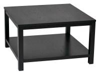 """Merge 30"""" Square Coffee Table Black Finish"" - Ergoback.com"