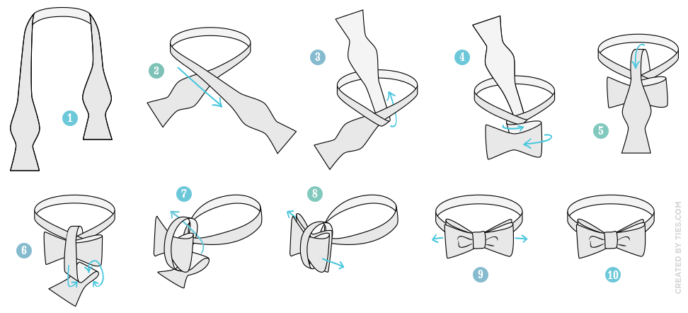 tying a bow tie diagram