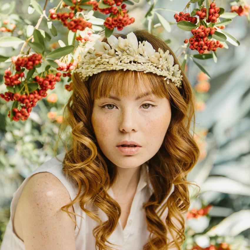 orange blossom, wax, tiara, crown, veil, wedding, bridal, vintage inspired