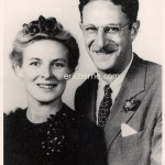 Photo of Eric Berne and first wife Ruth Harvey on their wedding on October 24, 1942