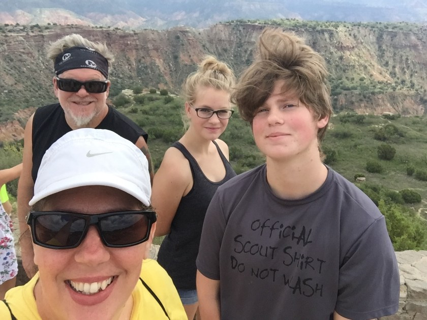 Saturday - Palo Duro Canyons State Park was breathtaking! It is the second largest canyon in the U.S. We explored it's nooks and crannies all day.