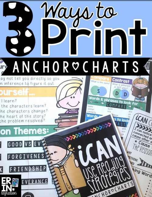 3 WAYS TO PRINT ANCHOR CHARTS AND USE THEM IN THE CLASSROOM - anchor charts