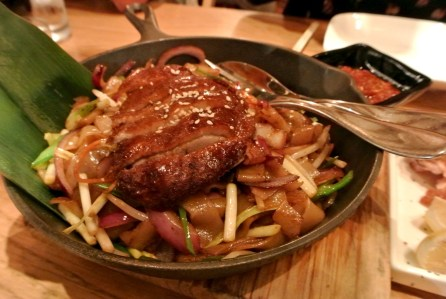 Wide Rice Noodles, BBQ'd Roast Duck