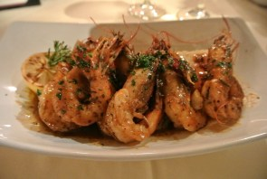 BBQ Shrimp: New Orleans barbeque shrimp enhanced with Abita beer and rosemary