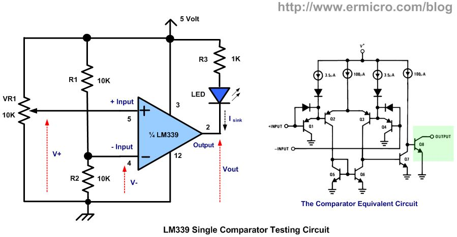 Working with the Comparator Circuit ermicroblog
