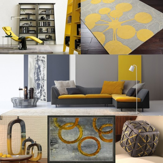 Yellow And Grey Living Room Accessories u2013 Modern House - yellow and grey living room
