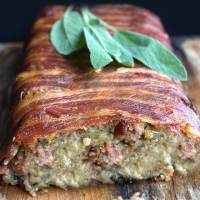 Bacon Wrapped Sage & Sausage Stuffing