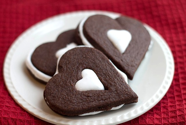 Chocolate Marshmallow Linzer Cookies  feature
