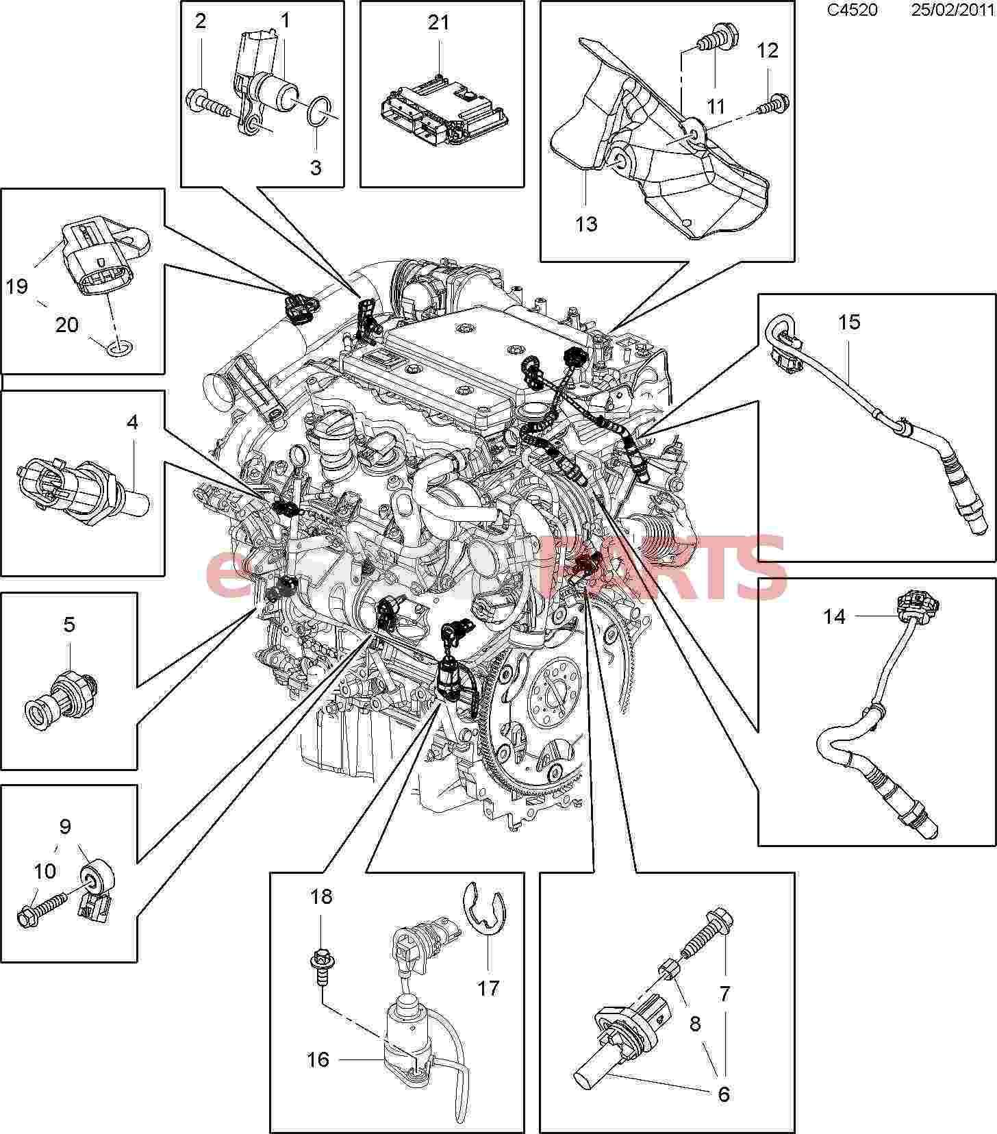 saab engine parts diagram