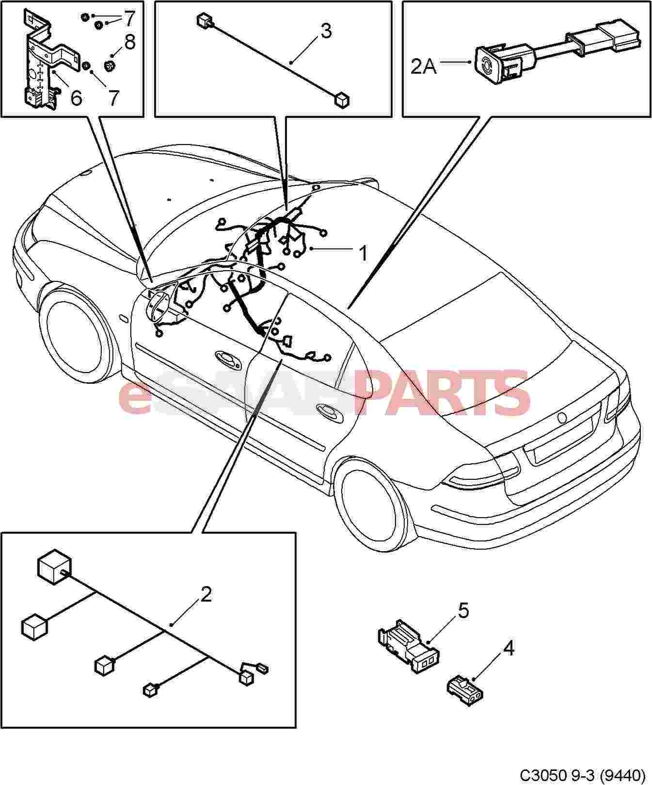 saab stereo wiring harness free download diagram schematic