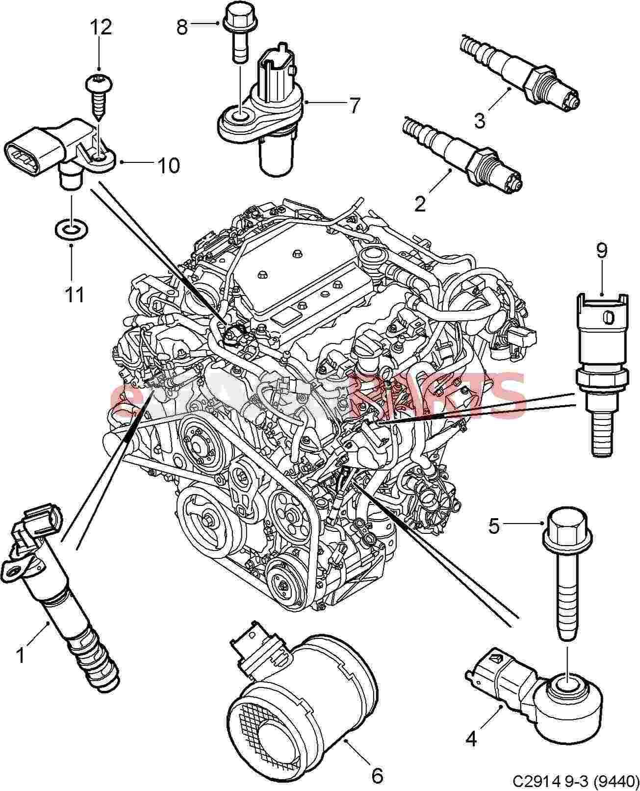 2000 saab 9 5 engine diagram