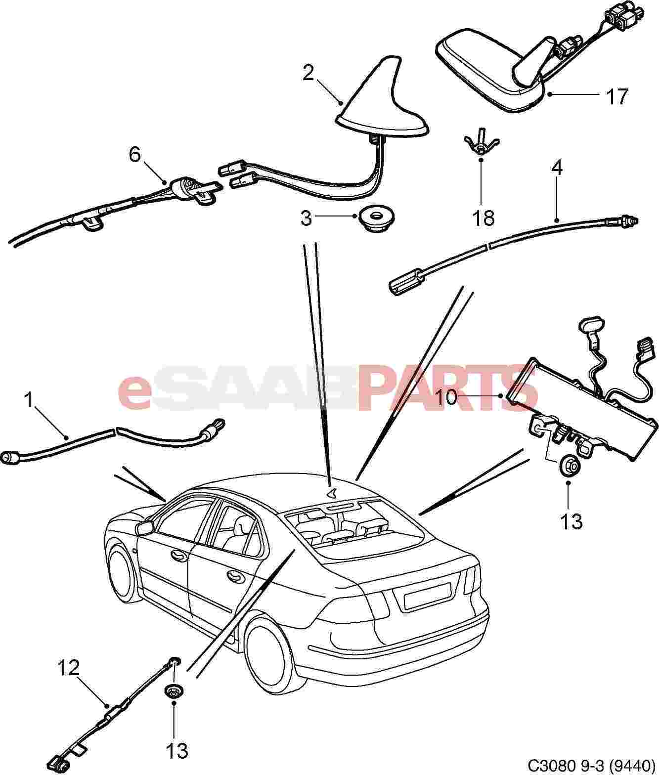 saab navigation wiring diagram