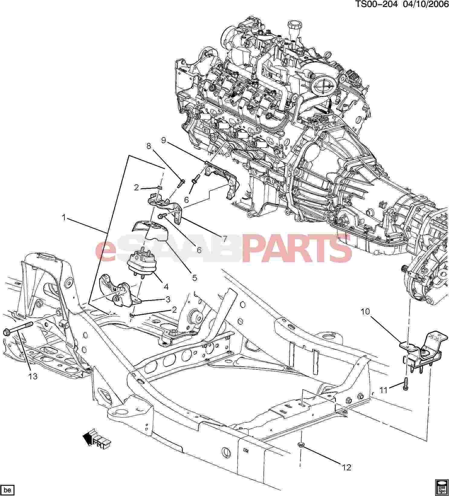 2009 saab 9 7x engine diagram