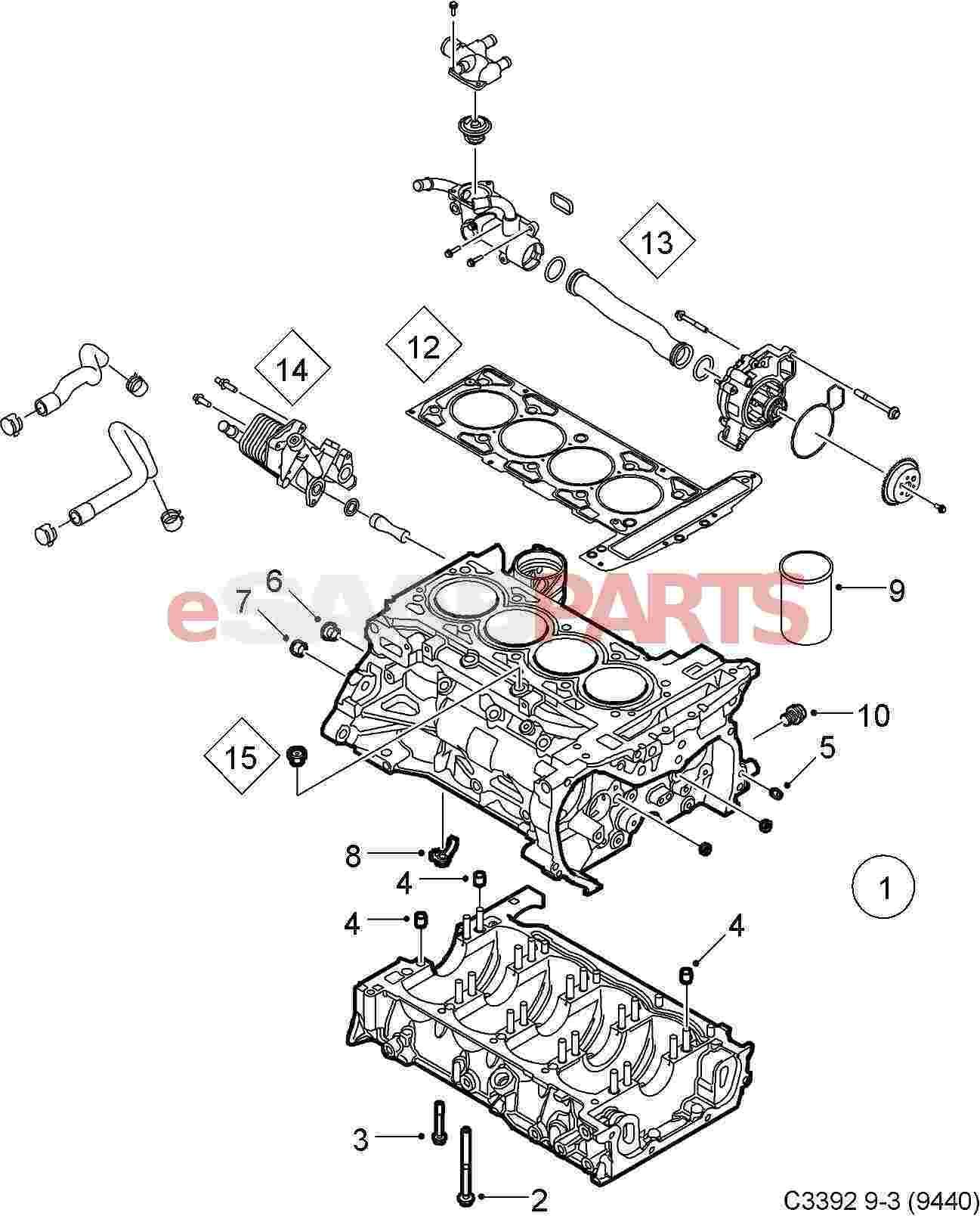 saab engine diagram 9 5mm