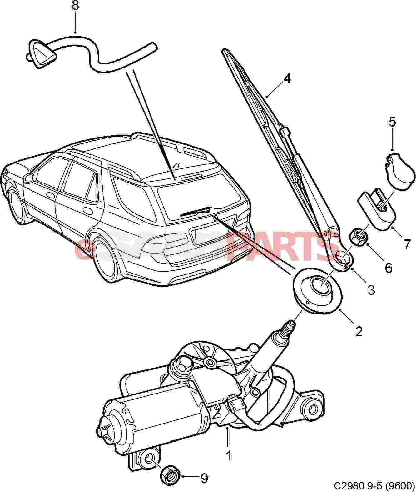 2004 saab 9 5 Motor diagram