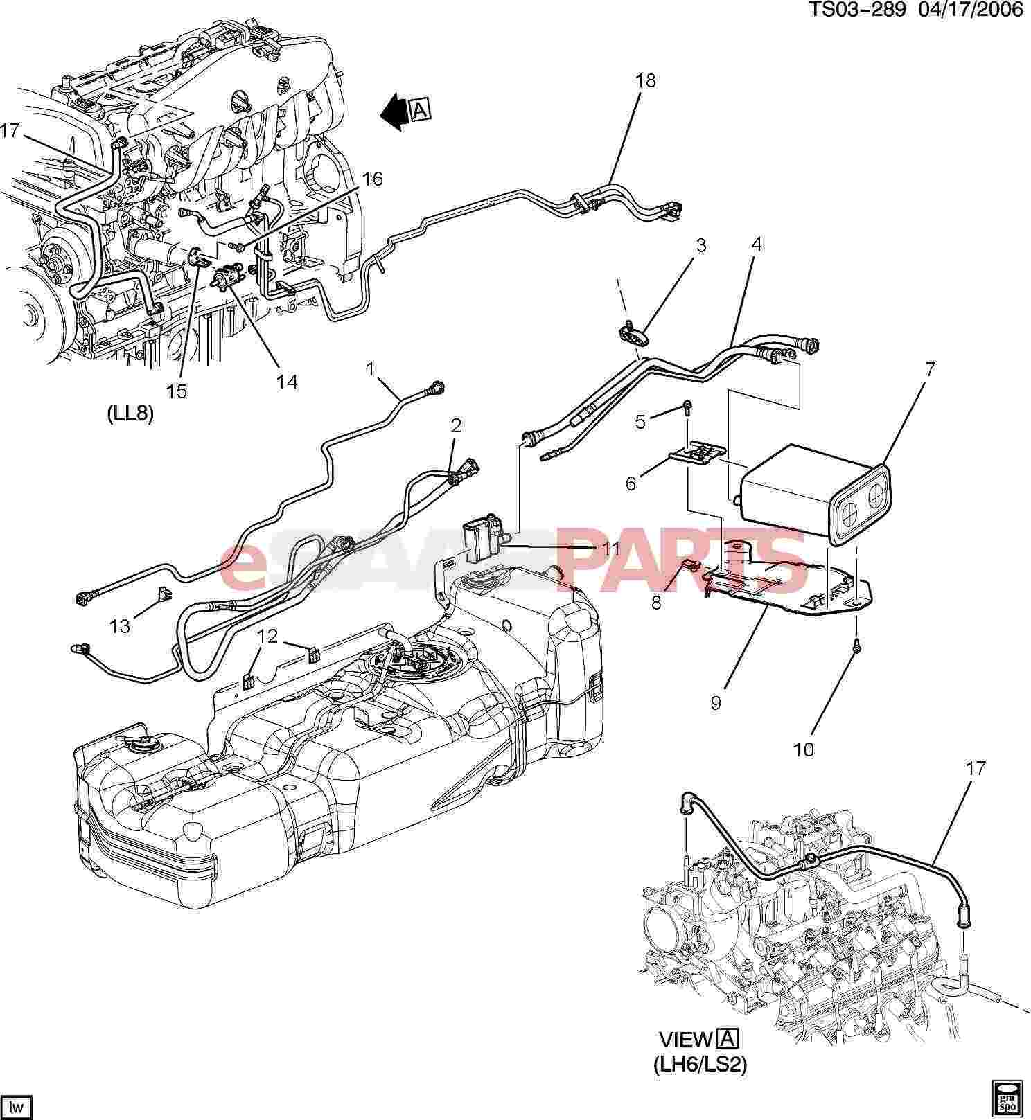 chevrolet trailblazer gas tank parts