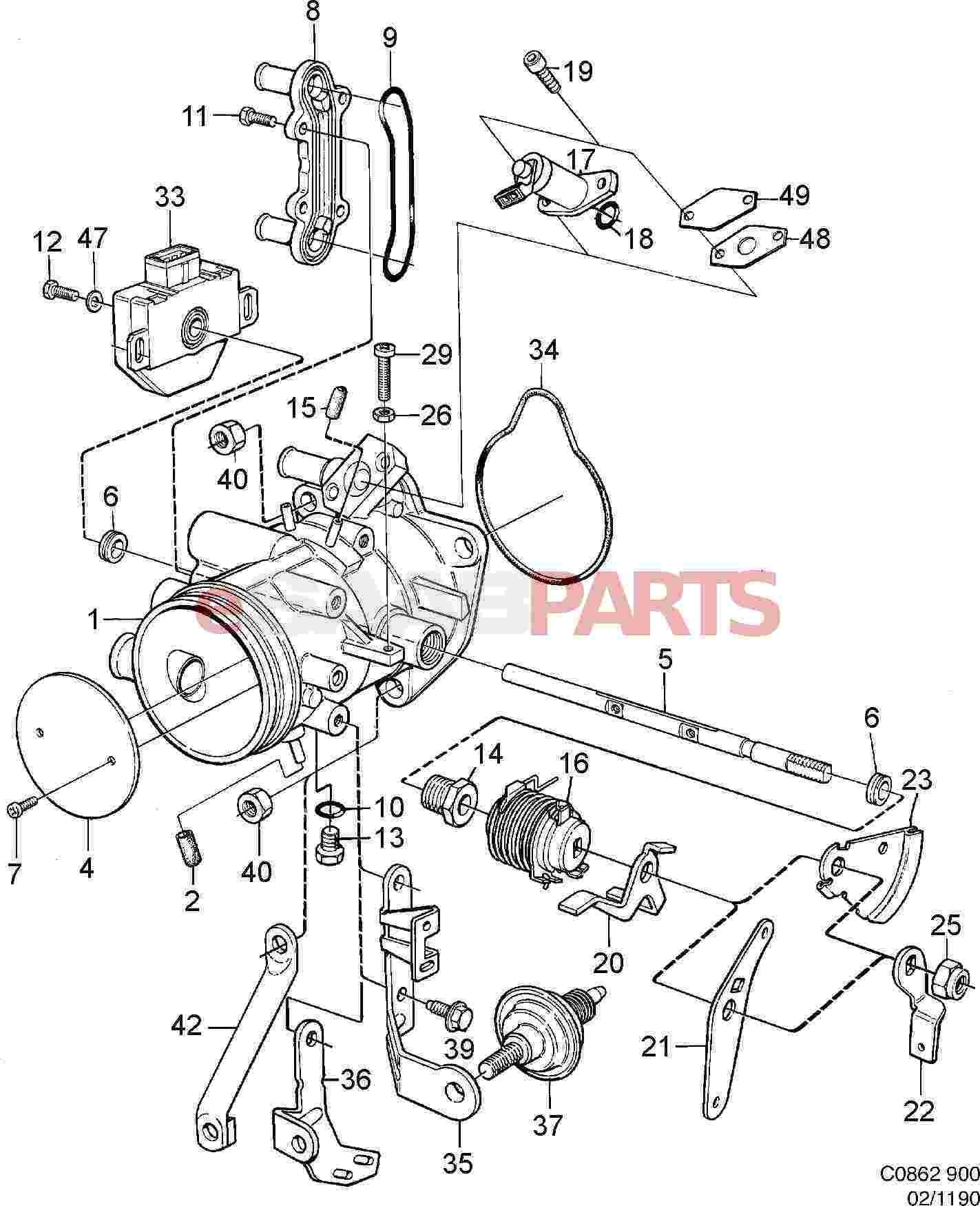 saab 23 engine diagram
