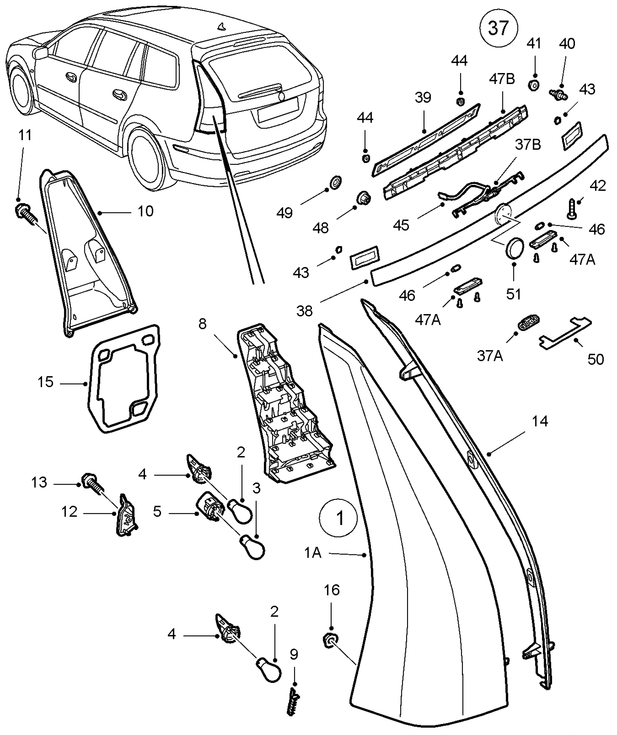 Saab Tail Light Wiring Harnesshtml Auto Electrical Diagram Harness