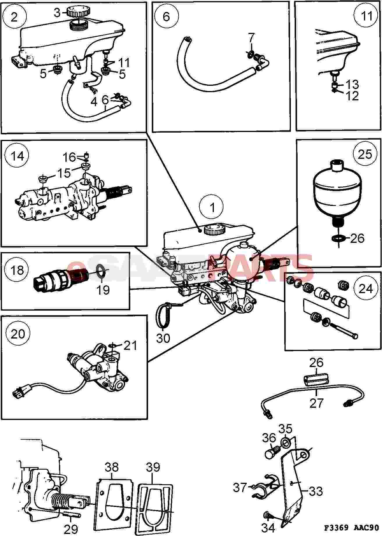 saab 9000 Motor diagram