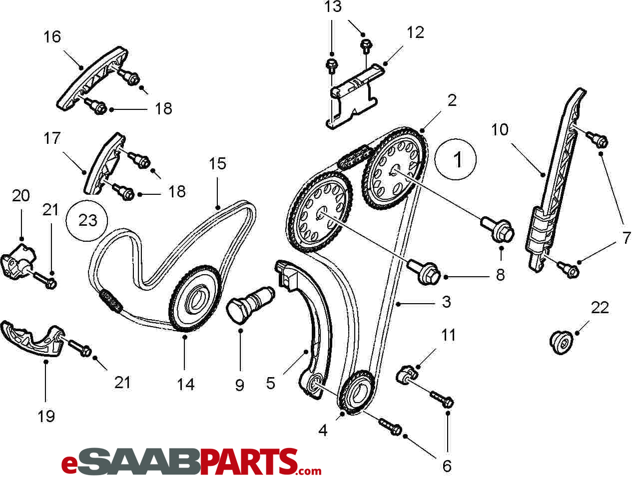 2003 saab motor diagrams