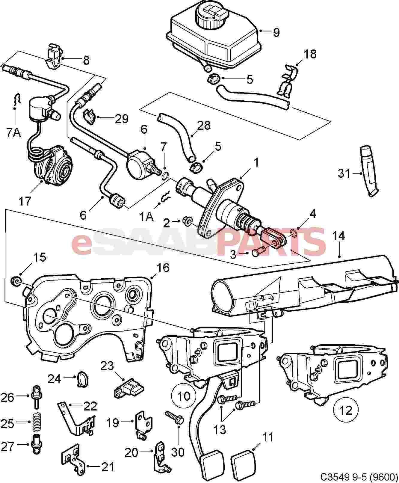 2003 saab 9 3 convertible parts top diagram