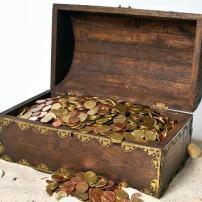 Ilustrações cristãs: Que tesouro você quer pegar?